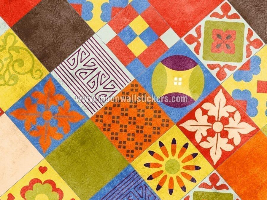 Vinilo azulejo mexicano talavera para decoraci n de cocinas - Azulejos con flores ...