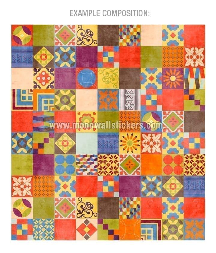 Vinilo azulejo mexicano talavera para decoraci n de cocinas for Vinilos para cubrir azulejos cocina