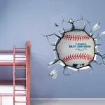 Baseball Breaking Wall Stickers