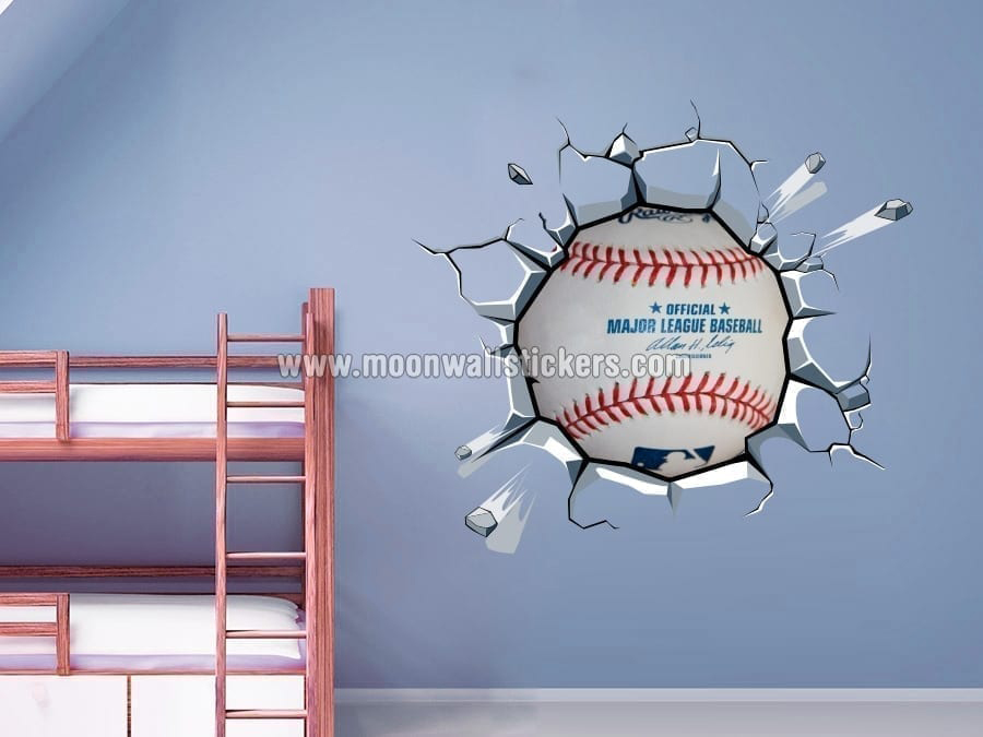 Superbe Baseball Breaking Wall Stickers