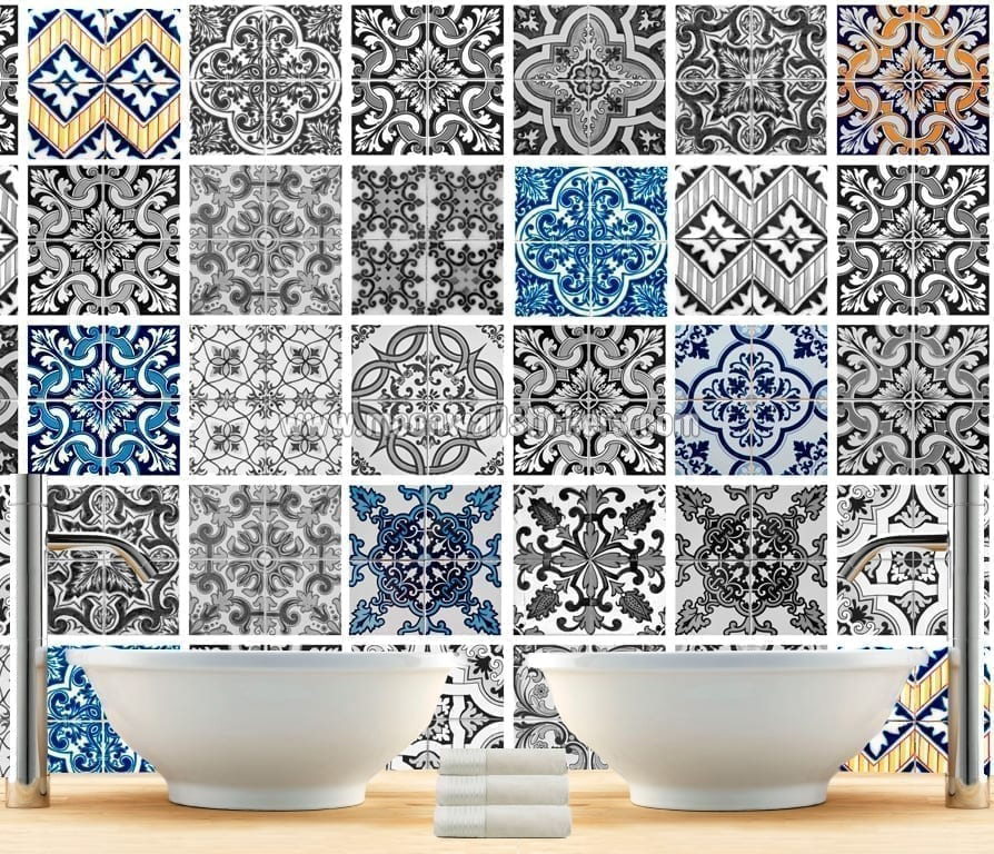 Kitchen and Bathroom Tile Stickers 4 colors