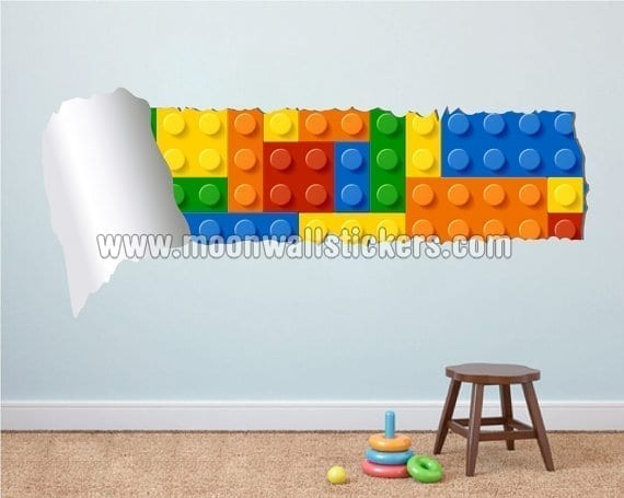 Charmant Brick Effect Style Torn Wall Stickers