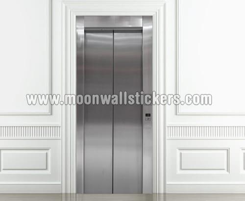 Elevator Closed Door Sticker Moonwallstickers Com