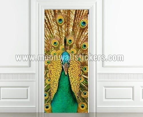 Peacock Door Sticker
