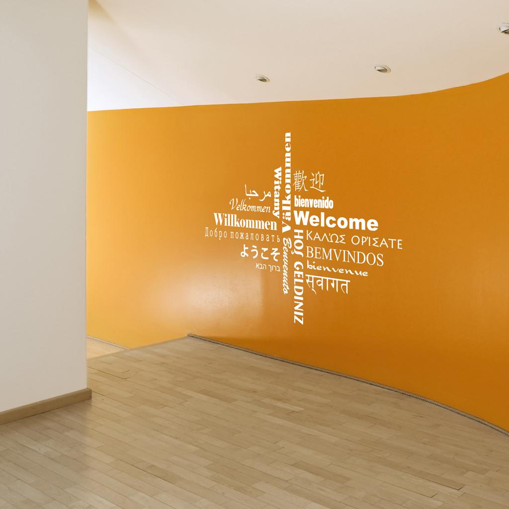 Décoration Murale Bureau Entreprise décoration bureau entreprise welcome - moonwallstickers