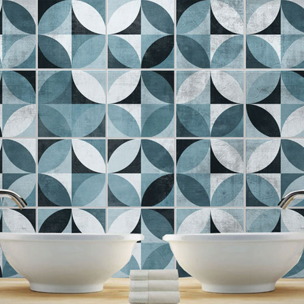Mid Century Modern Tiles Stickers Pack