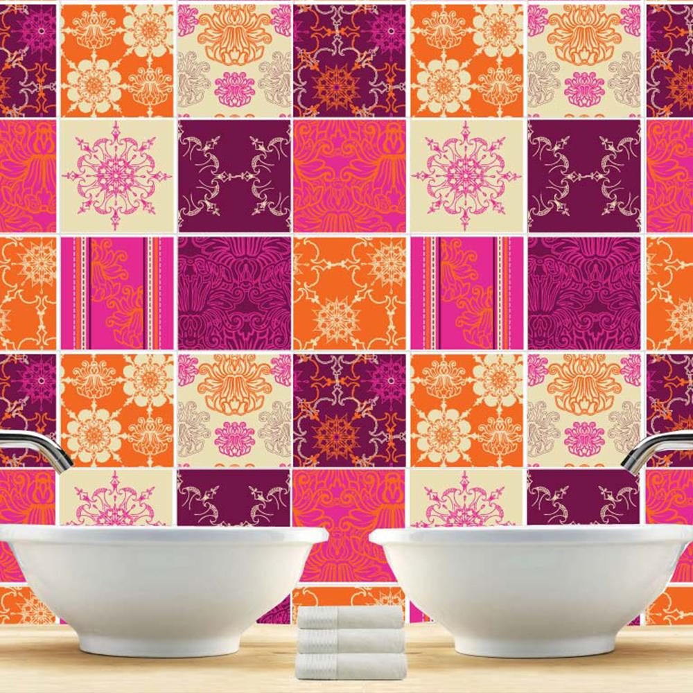 Patchwork indiano piastrelle adesivi set di 36 for Piastrelle patchwork