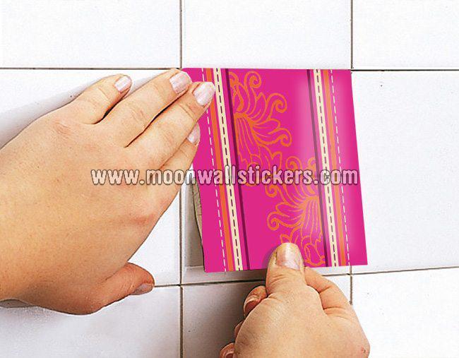 Patchwork indiano piastrelle adesivi set di 36 moonwallstickers.com