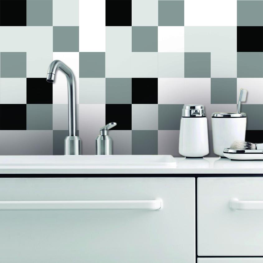 Cucina E Bagno Piastrelle Adesivi 4 Colore Set Di 32