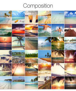 Tiles Stickers Beach Paradise - Composition