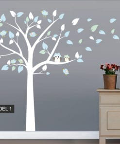 Tree Owl and Bird Decal - Model 1