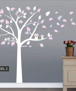 Tree Owl and Bird Decal - Model 2