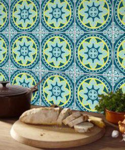 Tiles Stickers Antique Blue