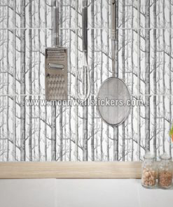 Wall Stickers on Tiles Birch Trees
