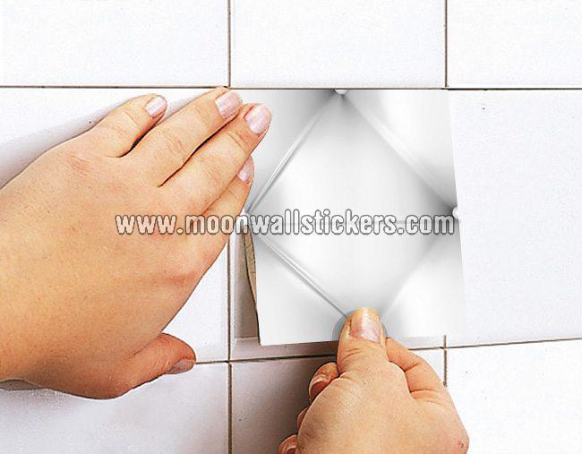 Effetto capitone piastrelle adesivi set di moonwallstickers