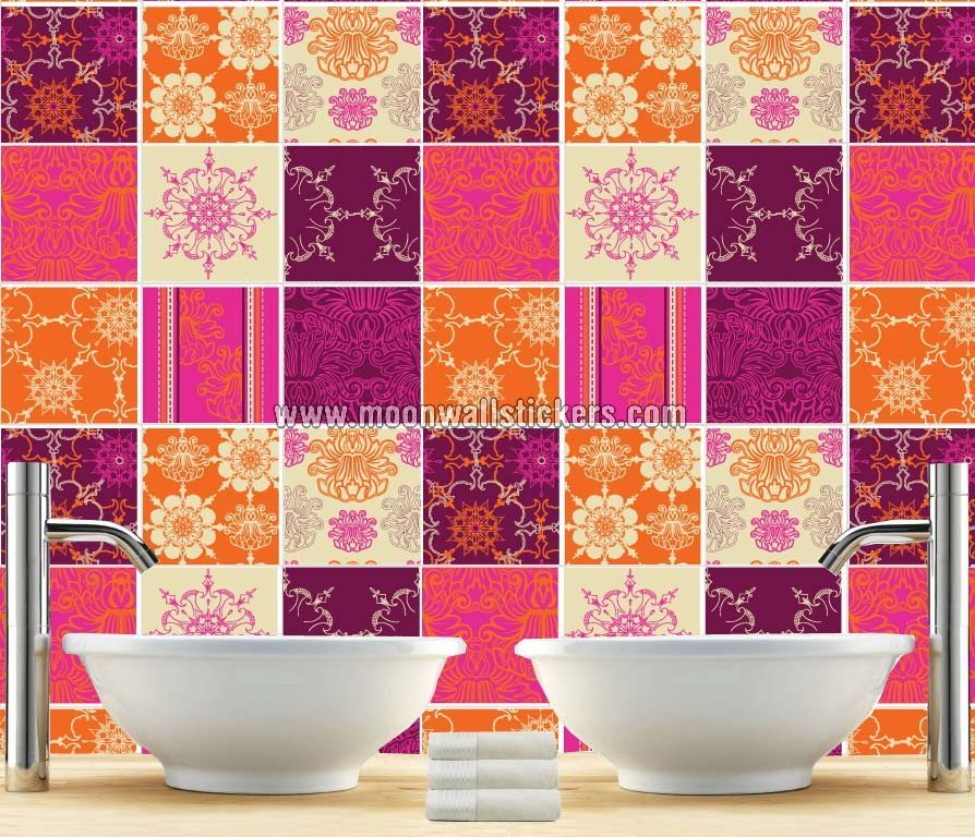 Indian Pattern Tile Stickers