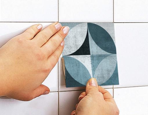Metà del secolo moderno piastrelle adesivi set di