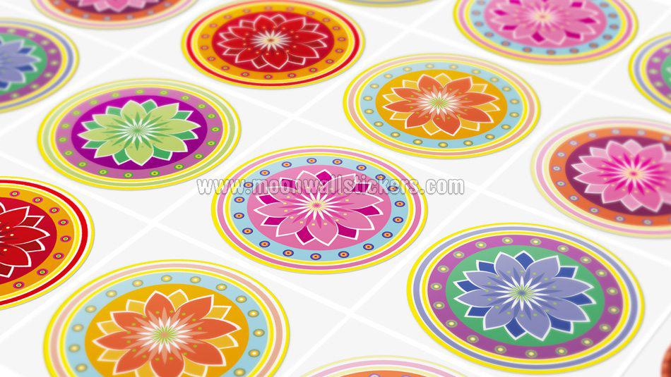 Adhesivo pared azulejo mandalas - Adhesivo para azulejos ...