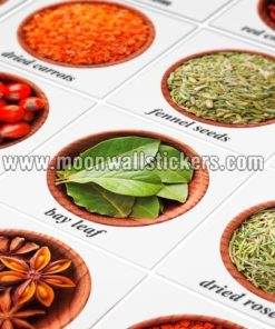 Spices tiles stickers