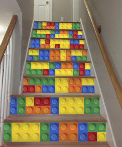 Bricks Tile Stickers - Stairs