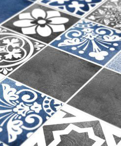 Vogue Blue Wall Tile Stickers - Detail