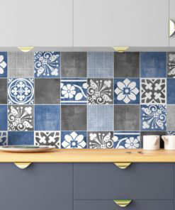 Vogue Blue Wall Tile Stickers - Wall