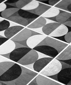 Wall Tile Stickers Mid Century Rounded - Detail