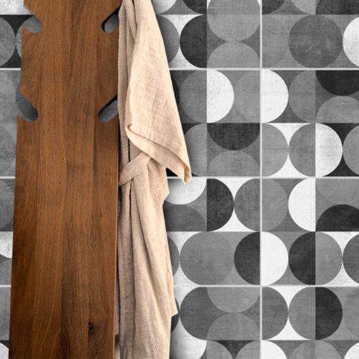 Wall Tile Stickers Mid Century Rounded - Wall
