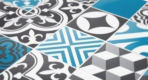 Stickers to Cover Tiles Blue Dreams Detail