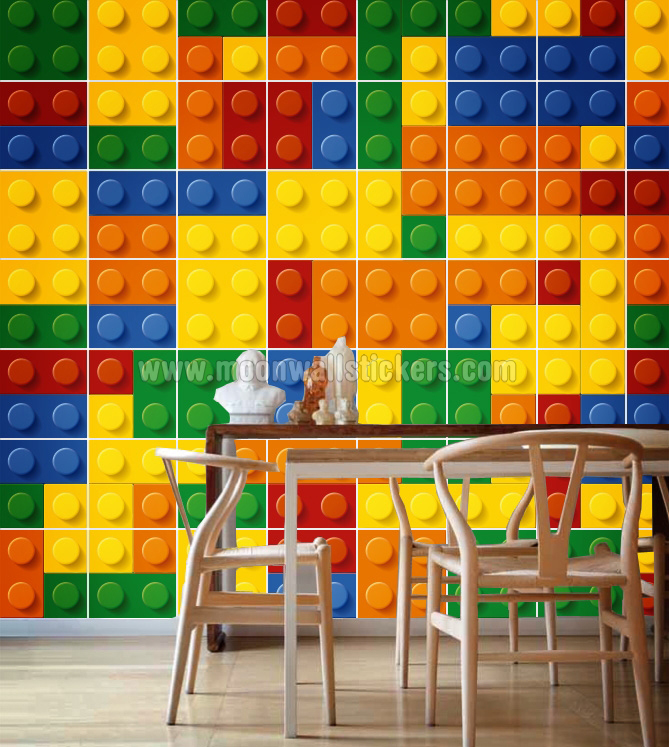 Wall Tile Stickers Lego Blocks Part 39