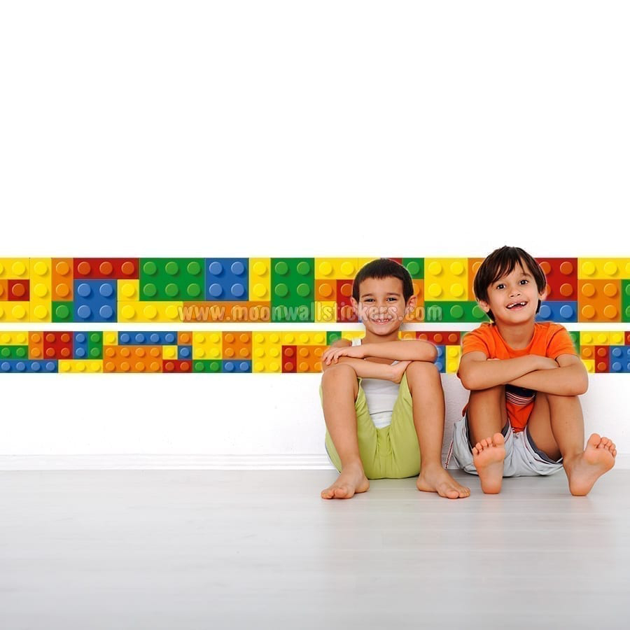 wandtattoo brick bord 252 re aufkleber moonwallstickers com building blocks wall sticker by oakdene designs