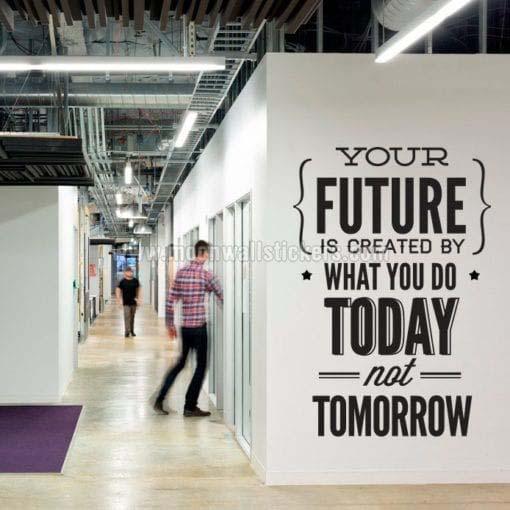 Do It Today Not Tomorrow Wall Sticker