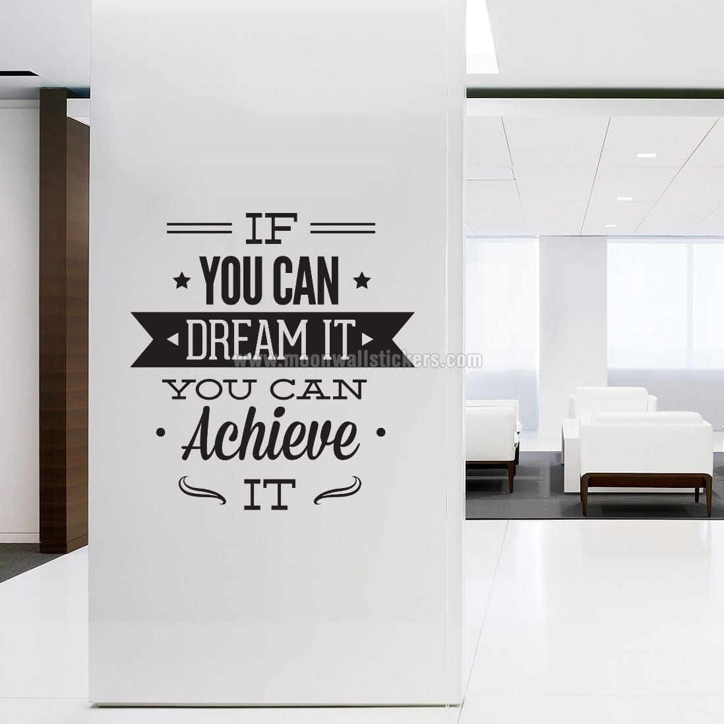 Dream It Achieve It Wall Sticker