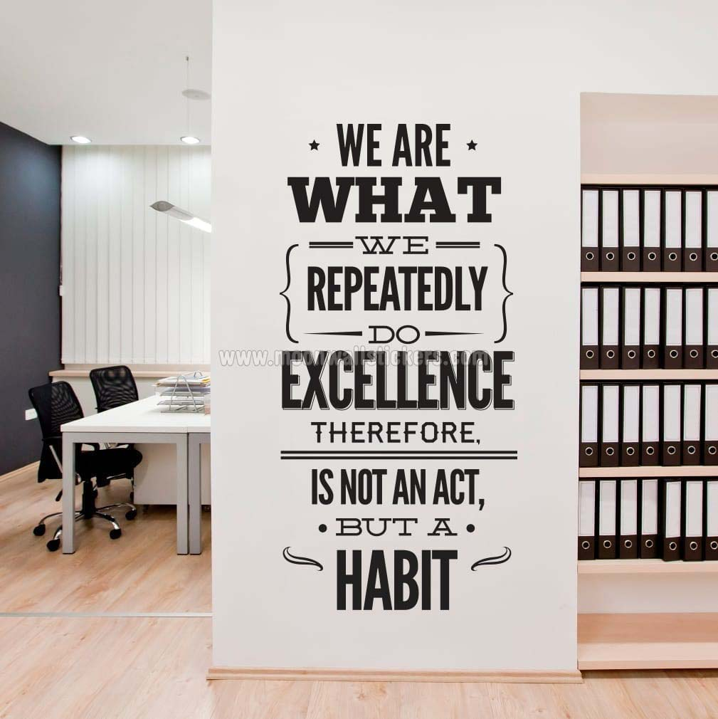 Elegant Excellence Office Decor Wall Sticker