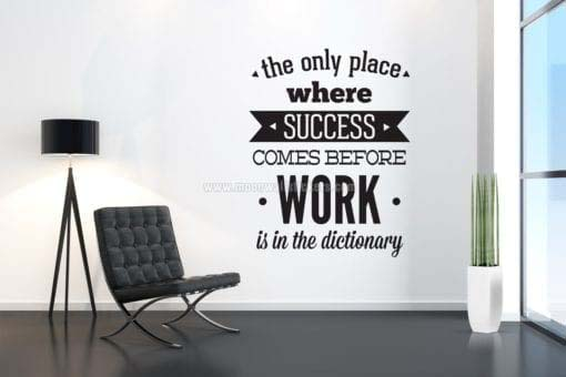 work-before-sucess-poster-decal