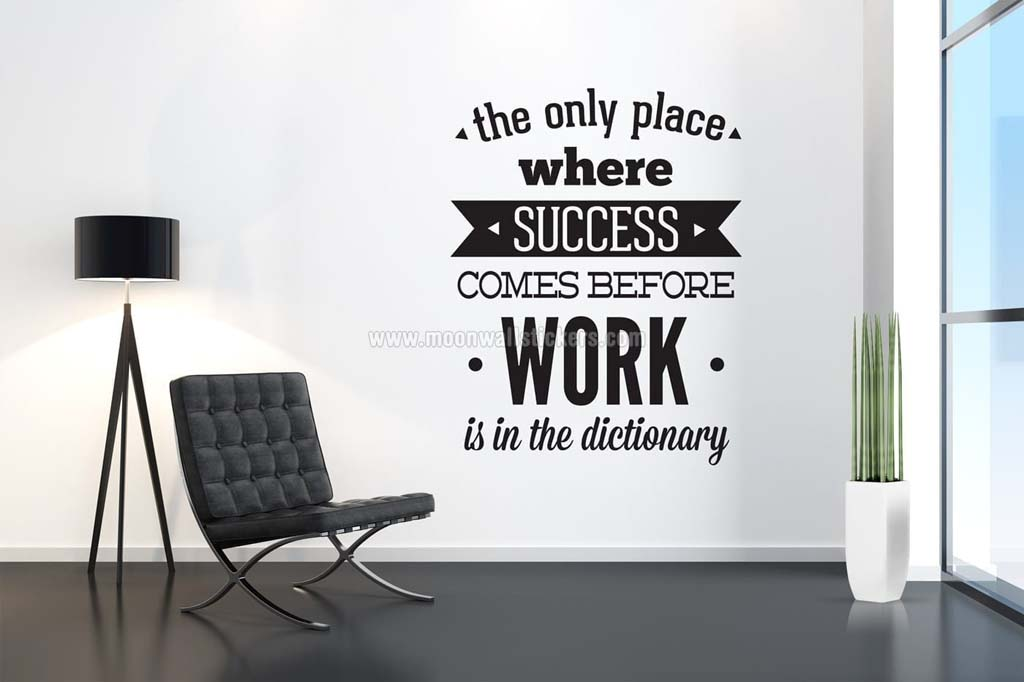 Office Wall Decor Work To Succeed Wall Sticker  Moonwallstickers