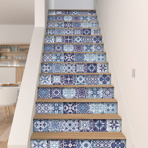 Blue Portuguese Tiles - Stairs