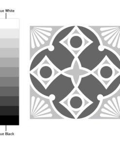 Grey Scale Floor Tile Decals - Color Spectrum