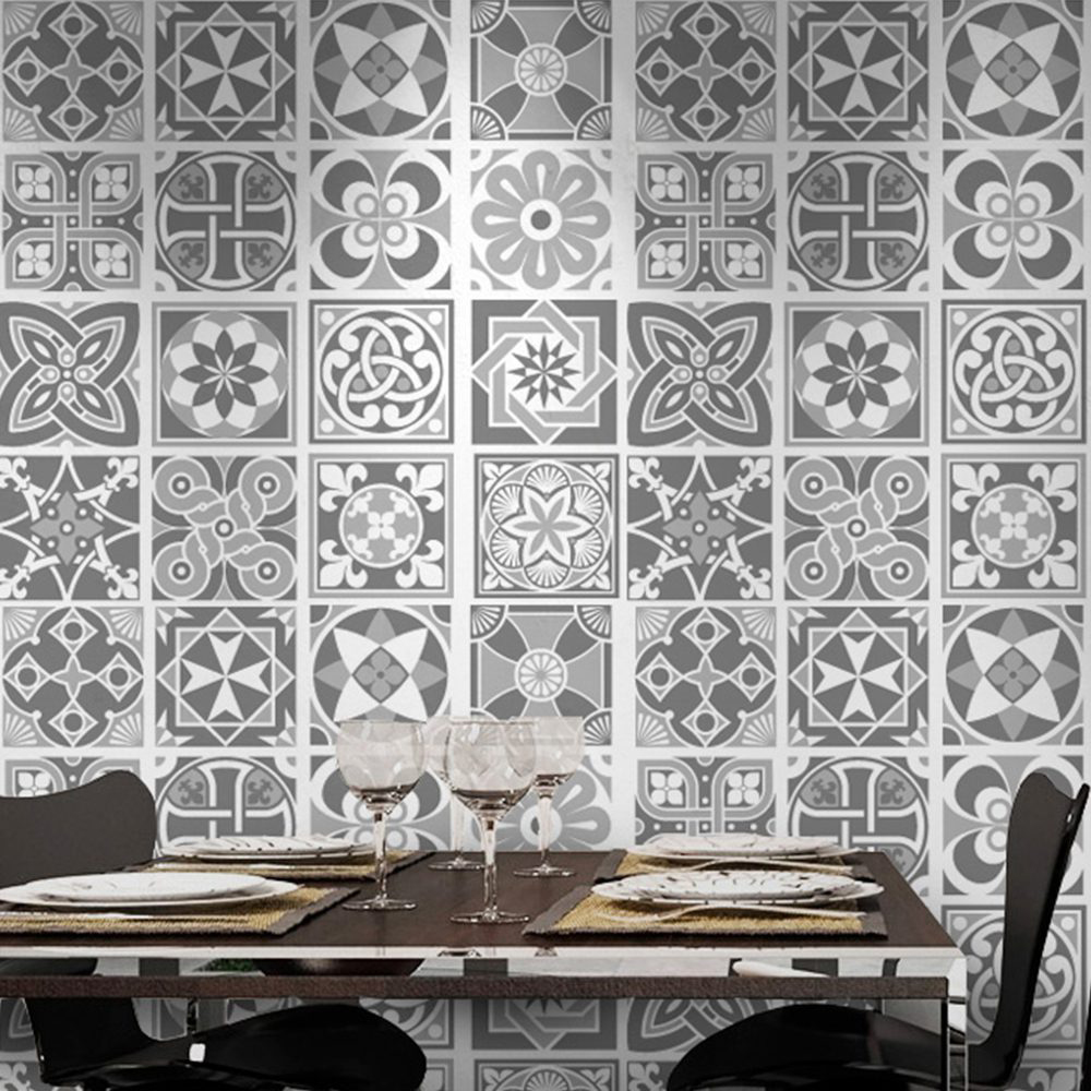 Grey Scale Tile Stickers (Pack Of 32