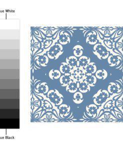 Pastel Blue Tiles Stickers - Color Spectrum