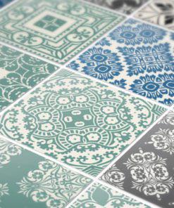 Pastel Blue Tiles Stickers - Detail