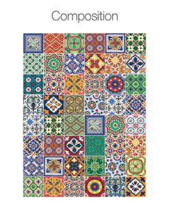 Talavera Tile Decals - Composition