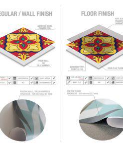 Talavera Tile Decals - Material