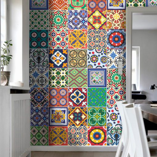 Talavera Tile Decals - Wall 2