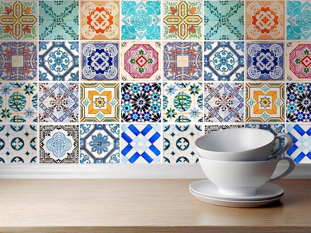 Adesivi spagnolo tradizionali piastrelle set di 32