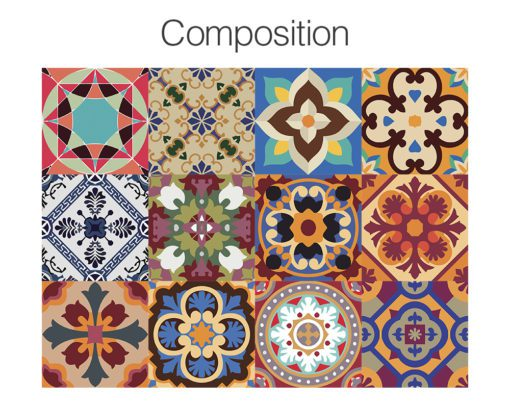 Traditional Talavera Stickers - Composition