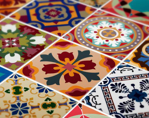 Traditional Talavera Stickers - Detail