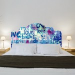 Graffiti Love Headboard Stickers