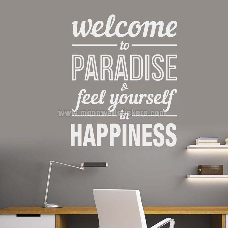 Welcome to Paradise wall decal