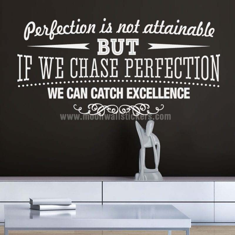 Catch Excellence wall decal